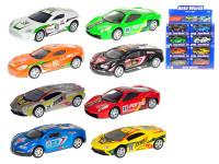 Auto závodné 10 cm kov 1:43 spätný chod - mix variantov či farieb - VÝPREDAJ