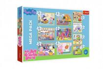Puzzle 10v1 Prasiatko Peppa / Peppa Pig s priateľmi