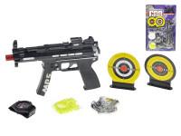 Pištoľ na guličky 20 cm s guličkami, terčom a doplnky