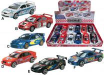 Kovový model - závodné autá