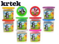 Plastelína / Plastelína hmota Krtko 140g v kelímku - mix farieb