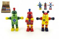 Robot dřevo 12cm - mix variant či barev