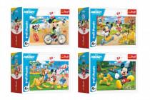 Minipuzzle 54 pieces Mickey Mouse Disney / Day with friends 4 species - VÝPREDAJ