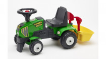 Odstrkovadlo traktor Farm Master s volantem, valníkem, hrabi