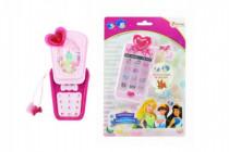 Telefon Mobil s princeznami plast 14cm na baterie se světlem se zvukem