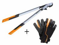 Set FISKARS nožnice na silné konáre 1020188 + rukavice 1003477