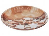 tanier plechový 25,5cm VIANOČNÉ