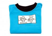 Dětské tričko Mayaka s dlouhým rukávem Swimming/Diving - tyrkysové Vhodné pro věk 6-12 měsíců - VÝPREDAJ