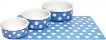 Miska keramická Bodky - modro / bílá RW 12,5 cm