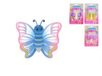Motýlek 8 cm s gelovou přísavkou - mix barev