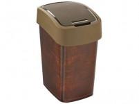 kôš odpadkový 25l FLIP LEATHER s vekom plastový