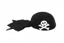 Šátek pirátský s lebkou plast 22cm karneval