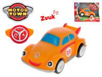 R / C Volkswagen Beetle oranžový 18 cm 2,4 GHz na batérie 4 zvuky