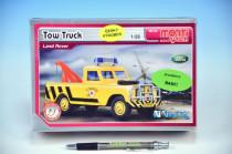 Stavebnica Monti 56 Tow Truck Land Rover 1:35