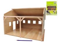 Garáž drevená farma pre traktory 55x53x38 cm 1:16