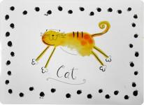 Podložka pod misku - mačka dôvo + 1 ks