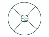 Kruh podporný pevný zelený d40cm 3ks