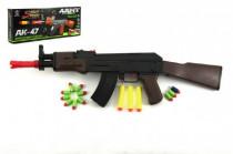 Samopal na penové náboje AK47 plast 54cm