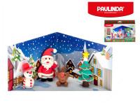 Tvořivá hmota/modelína Paulinda Merry Christmas 6x14g s doplňky - mix variant či barev