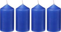 Sviečka adventná 40x75 mm - modrá - 4 ks