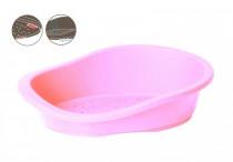 Pelech ovál plast růžový DUVO+ 50 x 35 x 16 cm