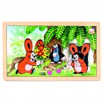 Puzzle Krtko a zajačikovia