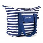 Spokey SAN REMO Plážová termo taška, pruhy - námořnícká modrá, 52 x 20 x 40 cm