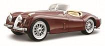 Bburago 1:24 Jaguar XK 120 Roadster (1951) vínový