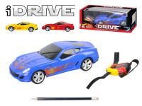 Auto RC I-DRIVE plast 25cm s ovládacím náramkem plná funkce na baterie se světlem - mix barev