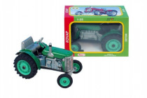 Traktor Zetor zelený na kľúčik kov 14cm 1:25 v krabičke Kovap