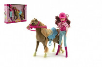 Kôň česacie s doplnkami + bábika žokejka plast