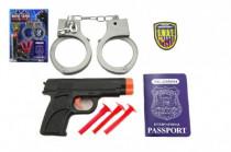 Policajná sada plast pištole na prísavky + putá a doplnky