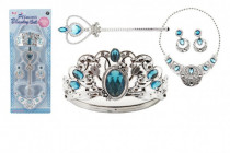 Sada krásy veľká plast korunka + náhrdelník + naušnice + žezlo - VÝPREDAJ
