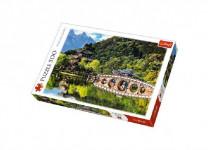 Puzzle Jezero Černého draka, Čína 500 dílků 48x34cm