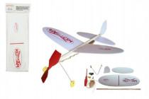 Lietadlo Komár hádzací model na gumu polystyrén / drevo 38x31cm