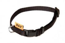 Obojok puppy nylon rozlišovaciu - čierny B & F 1,00 x 20-35 cm