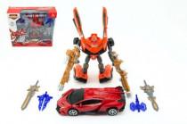 Transformer robot/auto 25cm - mix barev
