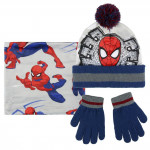 Sada nákrčník, rukavice, čiapka s brmbolcom - Spiderman