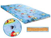 Dětská matrace 140x70x6 cm, kokos - molitan, modrá, Cuculo