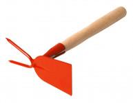 Kultivátor s nás. 27 cm - rovná 2 hroty - oranžová