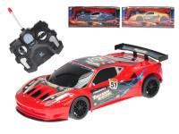 R / C auto športové 23 cm plná funkcie na batérie so svetlom 27 MHz - mix farieb