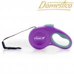 Domestico Samonavíjacie vodítko Easy Lock 5m / 20kg, fialové
