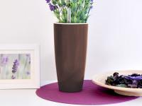 Samozavlažovací kvetináč GreenSun Liquids priemer 12 cm, výška 23 cm hnedý