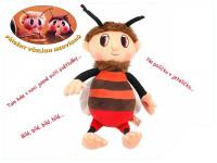 Včelí medvídek Brumda plyš česky zpívající 29cm na baterie