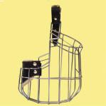 Náhubok kovový Nemecký ovčiak - Šport - fena, chróm 120 x 140 x 100 mm
