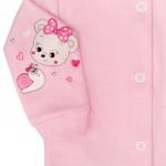 Dojčenský kabátik New Baby myška ružový - 50 - VÝPREDAJ