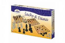 Šachy a dáma dřevo společenská hra