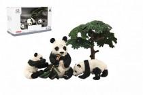 Zvieratká safari ZOO 10cm sada plast 4ks panda 2 druhy