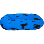 Polštář ovál bavl.Bafani modrý 60 cm