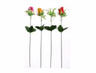 Květina RŮŽE KVĚT X1 MIX 40cm